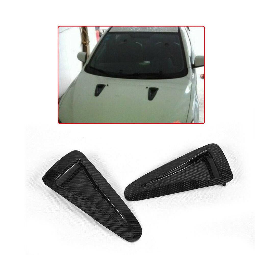 2PCS Carbon Fiber Bonnet Vent Hood Vent Air Vents Scoop Duct For Nissan GTR R35