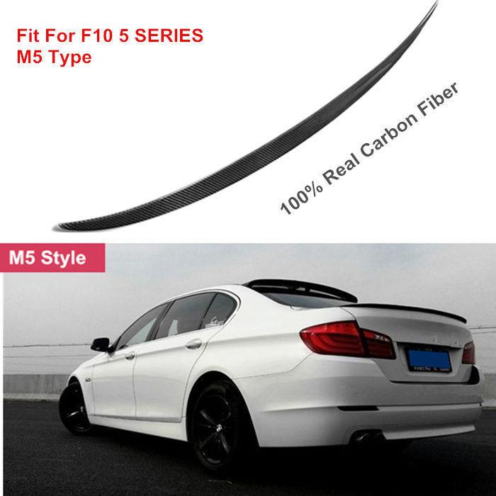 Carbon Fiber Rear Trunk Boot Spoiler Wing For BMW F10 5 SERIES 4D Sedan 10-15 M5